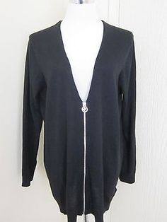 Zippered Cardigan Plus Size 117