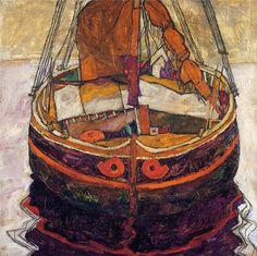 Egon Schiele, Trieste Fishing Boat