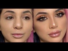 FAKE A NOSE JOB! Contouring your nose! | SadiaSlayy - YouTube