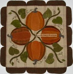 Pumpkins Wool Mat