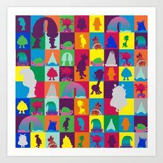 poppy trolls branch pattern mutil rainbow colored vector fun happy place