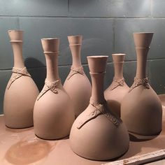 More new pieces this time its A collection of large stoppered bottles How to glaze Hmmmm Click the link to visit our site Ceramic Studio, Ceramic Art, Modern Aesthetics, Pottery Sculpture, Natural Forms, Glaze, Modern Design, Sculptures, Bottles