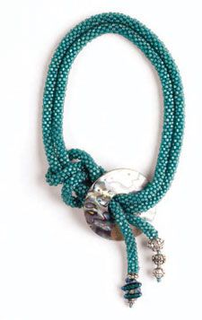 Free 17-page  bead crochet jewelry ebook with sign-in.