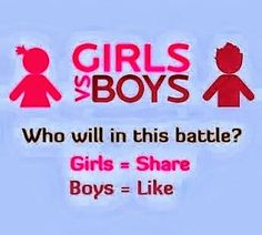 Instead of share, Repin if you are a girl.
