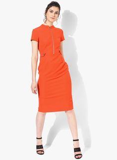 571822a4c63a Buy DOROTHY PERKINS Orange Grendadine Zip Dress Online - 3297988 - Jabong