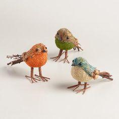 Mini Natural Fiber Birds, Set of 3   World Market