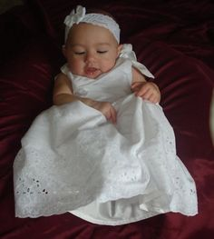 9 fabrics to choose from - The Affordable Christening/Dedication/Baptism Gown -Keep it simple and sleek.