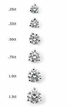 5b77d5f08614a Round, brilliant cut diamonds sparkle in timeless studs designed with a  three-prong martini