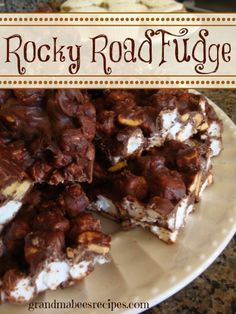 Mom's Rocky Road Fudge on MyRecipeMagic.com is easy to make and rich and creamy!