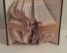 Book Folding Pattern for a Snowflake  Winter  Christmas