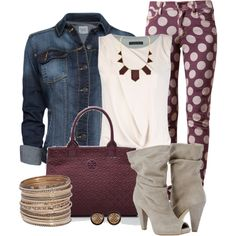 A fashion look from September 2014 featuring Plein Sud tops, MANGO jackets and House of Holland jeans. Browse and shop related looks.