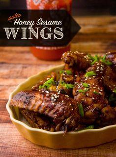 Honey Sesame Wings @forageddish