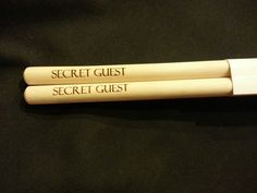 Custom engraved drumsticks for Nathan from 3dcarving on Etsy