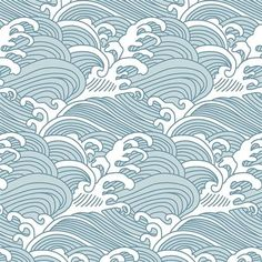 Shop the Anewall Bombora Modern Classic Vintage Hawaiian Waves Wallpaper and other Industrial Wallpaper at Kathy Kuo Home Vinyl Wallpaper, Waves Wallpaper, Striped Wallpaper, Fabric Wallpaper, Coastal Wallpaper, Herringbone Wallpaper, Contemporary Wallpaper, Traditional Wallpaper, Traditional Decor