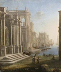 Claude Lorrain 'Capriccio with Harbour'