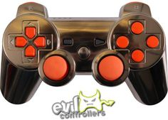 Gun Metal with Glossy Orange. Though not big in the orange I like the way the controller looks