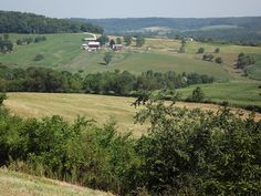 View from the road, just before arriving in Galena, Illinois.