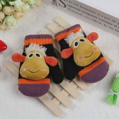 2016 New Fashion 1 Piece Baby Gloves Warm Children Gloves Cotton Sheep For 2-4 Years Winter Kids Gloves Plush Unisex Boys Girls