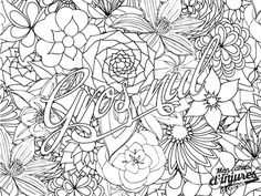 coloriage adulte anti-stres injures insulte poufiasse