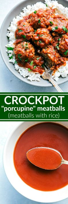 Delicious and easy porcupine meatballs that take minutes to make and cook in your crockpot. Little prep and impressive results!