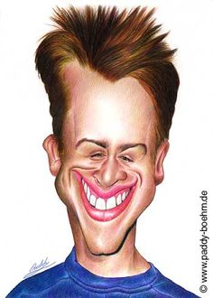 Macauley Culkin Caricature Paddy Boehm greatest love is his caricatures and apparently he is a Great Musician as well.