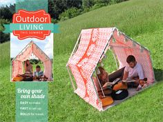 How-To: Outdoor Playhouse Tent #sewing #tents #kids