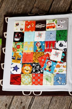 """I Spy"" fabric page with matching magnetic pieces"