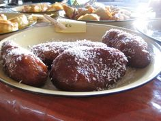 Koeksisters (South African donuts). These are the Cape Malay style, the East version are usually in a plait without coconut.