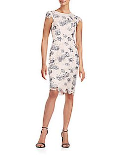 Betsey Johnson - Floral-Print Lace Dress
