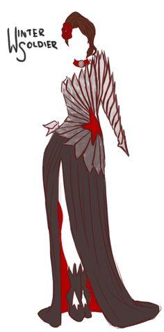 Marvel Avengers & Villains Evening Gown Designs