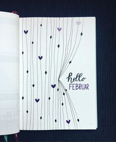 Over 33 simple ideas for the Bullet Journal to simplify your daily business . - Over 33 Simple Ideas for the Bullet Journal to Simplify Your Daily Activities – Inspiration – # - Bullet Journal Simple, Bullet Journal Spreads, February Bullet Journal, Bullet Journal Cover Page, Bullet Journal 2020, Bullet Journal Aesthetic, Bullet Journal Notebook, Bullet Journal Inspo, Journal Covers
