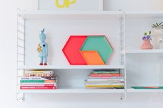 Hay kaleido by zilverblauw Tangram, House Shelves, Geometric Decor, Little Girl Rooms, Home And Deco, Interiores Design, Colorful Decor, House Colors, Interior Styling