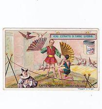 1 figurine Liebig - Danzatori sulla corda - san504itac- pubbl nel 1897