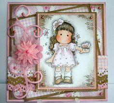 LilyPuss Cards: Just Magnolia Challenge - Pink for Breast Cancer Awareness