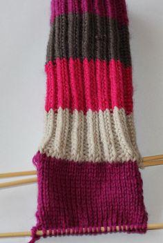Hvordan strikke sokker / ull labber