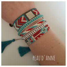 Loom Bracelet Patterns, Bead Loom Bracelets, Bead Loom Patterns, Beaded Jewelry Patterns, Woven Bracelets, Simple Bracelets, Beading Patterns, Ankle Bracelets, Diy Accessoires