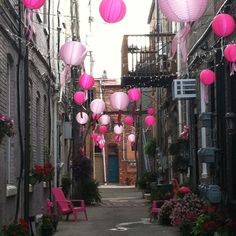 An alleyway of pink!  I think this in Howell, MI :-)