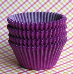 Is purple your favorite color? Match your cupcake liners with the color