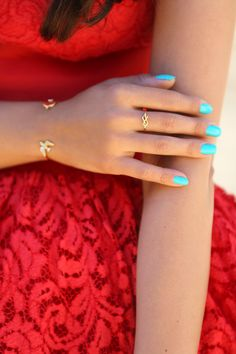 Turquoise Manicure