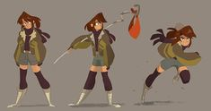 I am in love with all this Big Hero 6 character concept art that's been popping up lately, so naturally Enna gets to be victim to my latest style obsession.