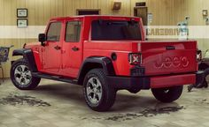 View 2018 Jeep Wrangler: A More Modern Mountain Goat Photos from Car and Driver. Find high-resolution car images in our photo-gallery archive. Jeep Wrangler Pickup, Jeep Wrangler Colors, Best Jeep Wrangler, Jeep Pickup, Jeep 4x4, Jeep Truck, Wrangler Unlimited, Wrangler Rubicon, Jeep Gladiator
