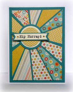 Cards en Scrap Challengeblog: Workshop 133 Starburst/sunburst kaart