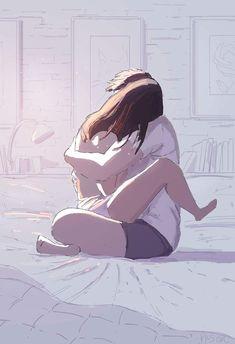 Pascal Campion, Just like that.From a while ago but I feel like. Cute Couple Drawings, Cute Couple Art, Love Cartoon Couple, Manga Couple, Pascal Campion, Illustrator, Romance, Couple Illustration, Cute Anime Couples