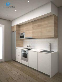 Una vez finalizadas las obras, esta #cocina contará con un nuevo aspecto y un equipamiento completo. #reformas #3D #interiorismo #Barcelona