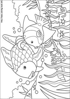Rainbow Fish Coloring Picture Summer SheetsBeach
