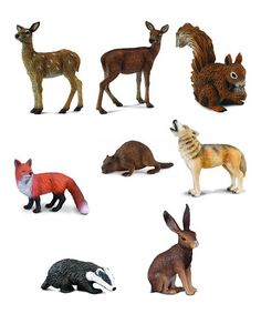 Another great find on #zulily! Woodland Animal Figurine Set by CollectA  #zulilyfinds
