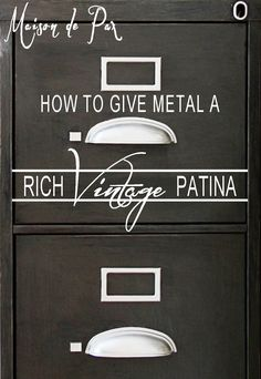 metal vintage patina tutorial
