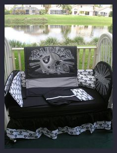 Oakland Raiders Crib Set