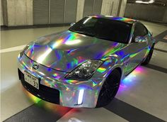 VViViD Silver Holographic Rainbow Chrome Vinyl Wrap Film Self-adhesive DIY Roll in eBay Motors,Parts & Accessories,Car & Truck Parts | eBay