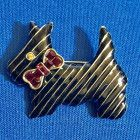 HEIDI DAUS Black Enamel SCOTTIE Dog Pin Brooch - 2 inches - FREE SHIP